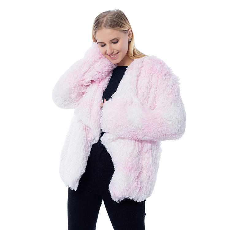 2020 Winter New Arrival Women PV Fleece Tie Dye Jacket MXDSS819