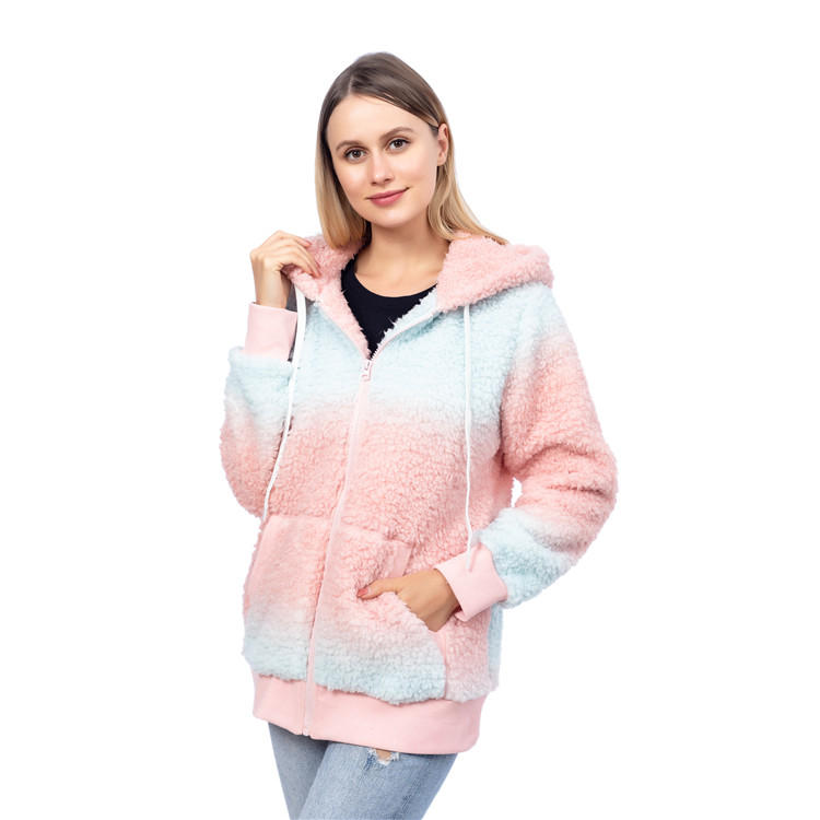 Ready To Ship Tie Dye Sherpa Fleece Stripe Warmest Jacket MXDSS849
