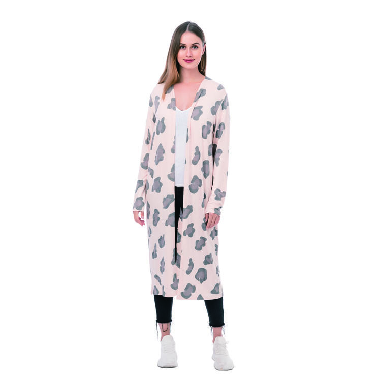 Women Fashion Leopard Cardigan