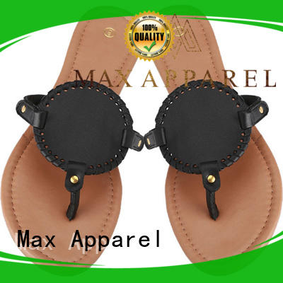 Max Apparel ladies flat leather sandals for female
