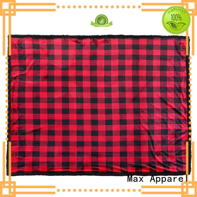 Max Apparel double sided fleece blanket inquire now for cold days