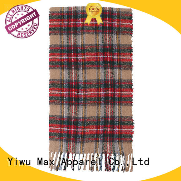 Max Apparel plaid infinity scarf for woman
