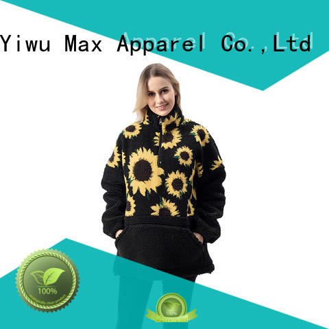 Max Apparel new-arrival double face pullover free design for girl